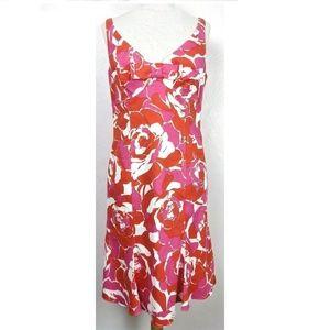 Teri Jon Ricky Freeman Floral Bow Front Dress